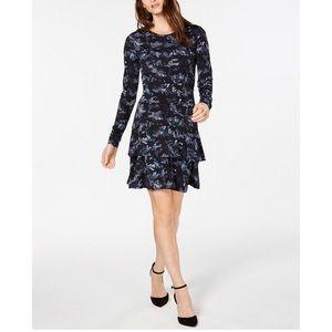 Michael kor snake print ruffled dress